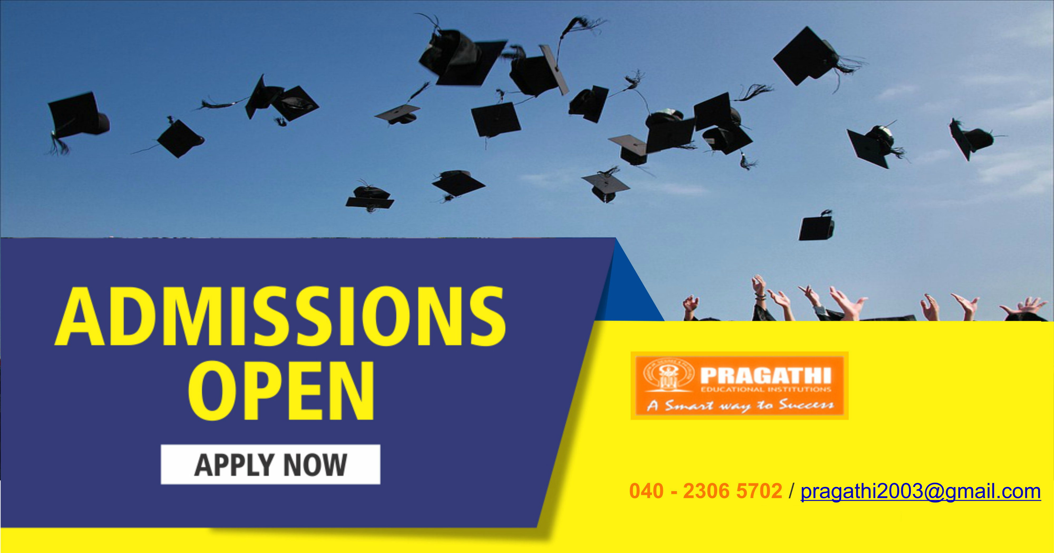 Admissions are Open for 2018-19 in Pragathi Junior and Degree Colleges for Womens | Best Colleges in Hyderabad India